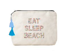 Eat Sleep Beach -Confetti Bikini Clutch