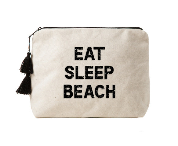 EAT SLEEP BEACH - Bikini Bag Clutch