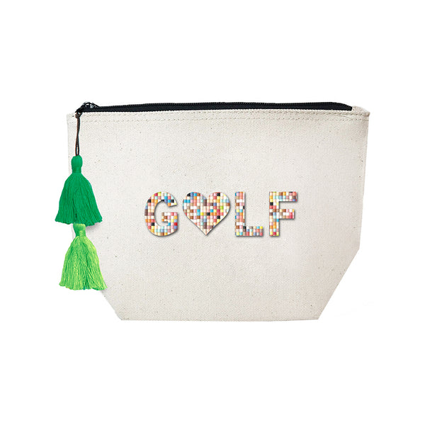 GOLF- Confetti Cosmetic Case