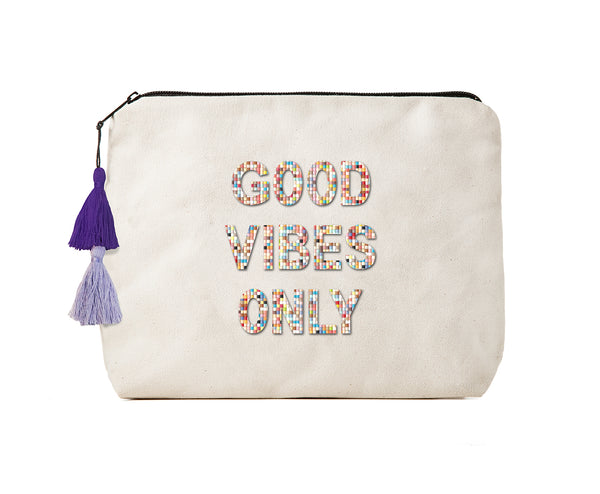 Good Vibes Only -Confetti Bikini Clutch