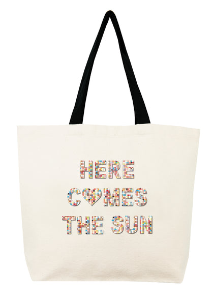 Here Comes The Sun Confetti Bead Tote