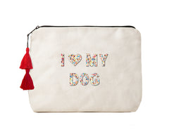 I LOVE MY DOG - Confetti Bikini Clutch