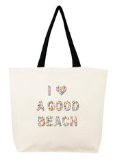 I Love A Good Beach Confetti Bead Tote