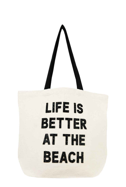Life Is Better At The Beach Crystal Tote