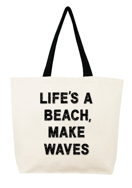 Life's A Beach, Make Waves Crystal Tote