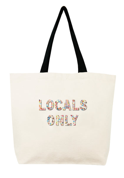 Locals Only Confetti Bead Tote