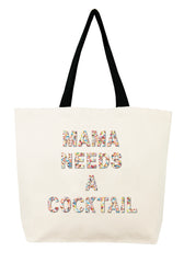 Mama Needs a Cocktail Confetti Bead Tote