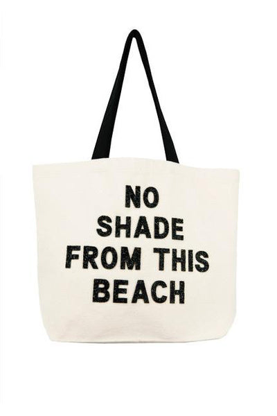 No Shade From This Beach Crystal Tote