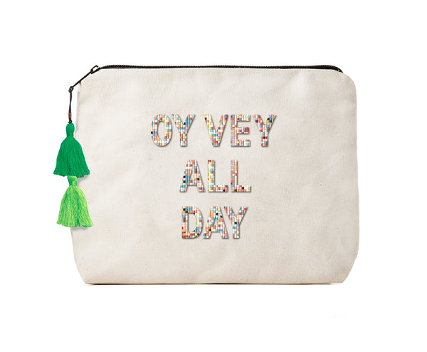 Oy Vey All Day -Confetti Bikini Clutch
