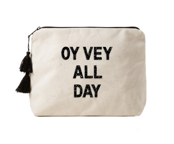 OY VEY ALL DAY - Bikini Bag Clutch