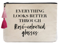 Everything Looks Better Through Rose-Colored Glasses - Flat Pouch