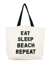 Eat Sleep Beach Repeat Crystal Tote