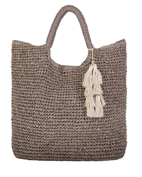 MEL -WOVEN STRAW TOTE