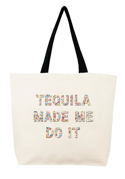 Tequila Made Me Do It Confetti Bead Tote