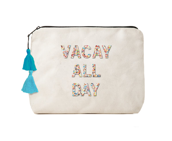 VACAY ALL DAY- Confetti Bikini Clutch