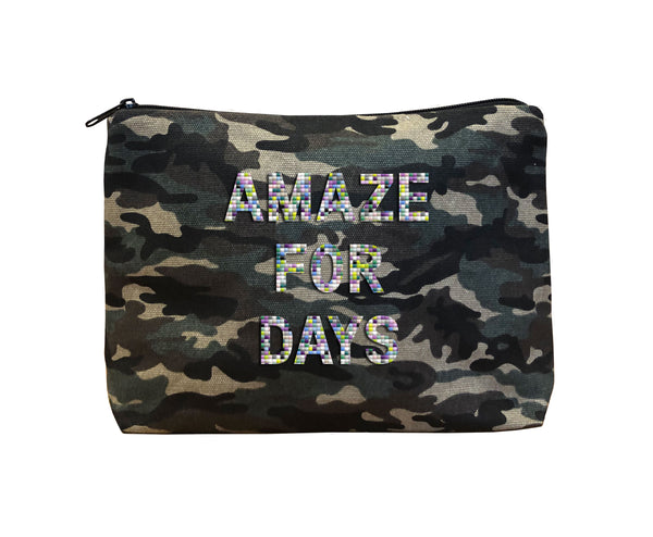 AMAZE FOR DAYS - Camo Beaded Bikini Clutch