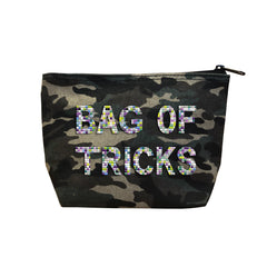 BAG OF TRICKS - Camo  Beaded Cosmetic
