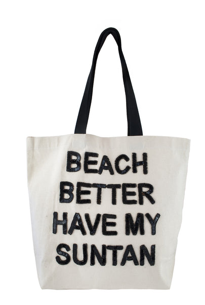 Beach Better Have My Suntan Sequin Tote