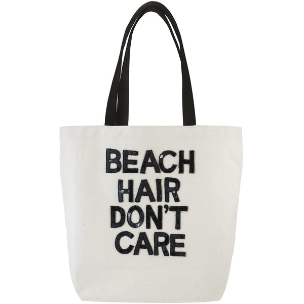 Beach Hair Don't Care Sequin Tote