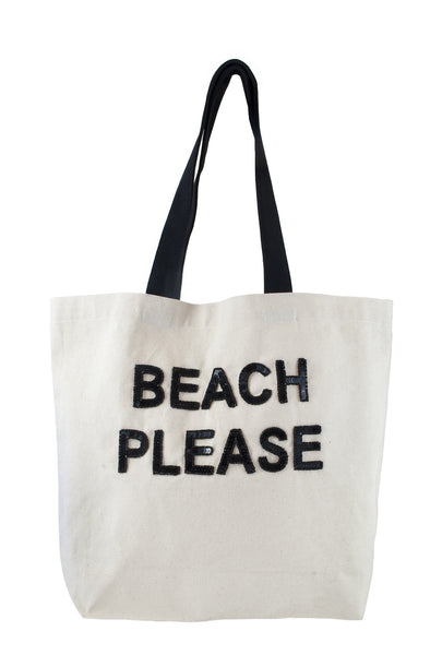 Beach Please Sequin Tote