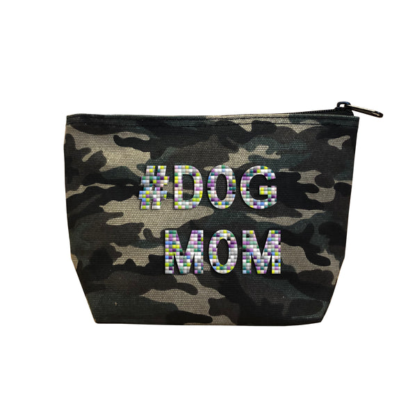 #DOG MOM - Camo  Beaded Cosmetic