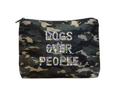 DOGS OVER PEOPLE - Camo Beaded Bikini Clutch