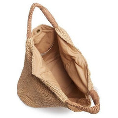 MEL -WOVEN STRAW TOTE - NATURAL