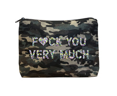 FUCK YOU VERY MUCH - Camo Beaded Bikini Clutch