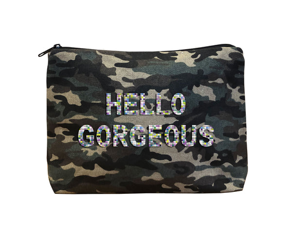 HELLO GORGEOUS - Camo Beaded Bikini Clutch