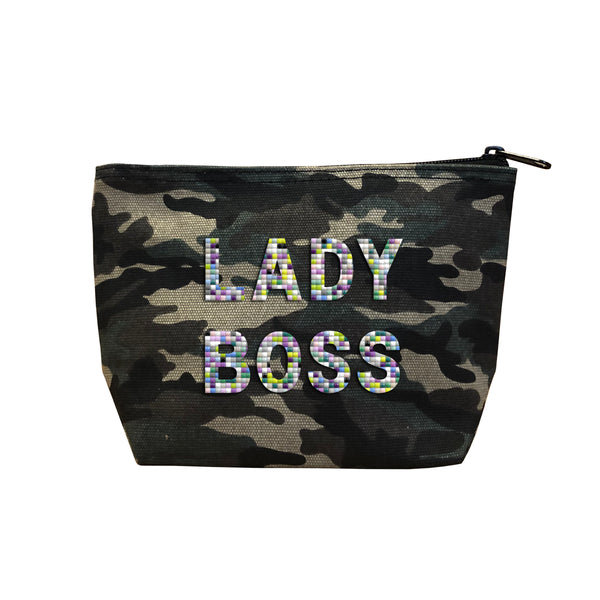 LADY BOSS - Camo  Beaded Cosmetic