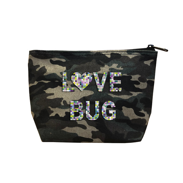 LOVE BUG - Camo  Beaded Cosmetic
