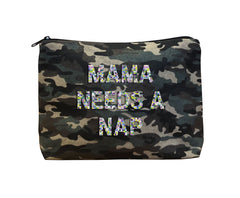 MAMA NEEDS A NAP - Camo Beaded Bikini Clutch