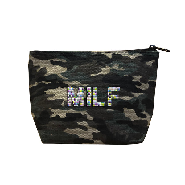 MILF - Camo  Beaded Cosmetic