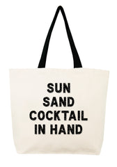 Sun Sand Cocktail in Hand Crystal Tote
