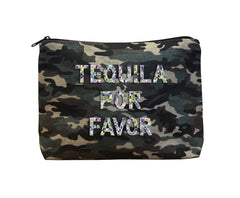 TEQUILA POR FAVOR - Camo Beaded Bikini Clutch