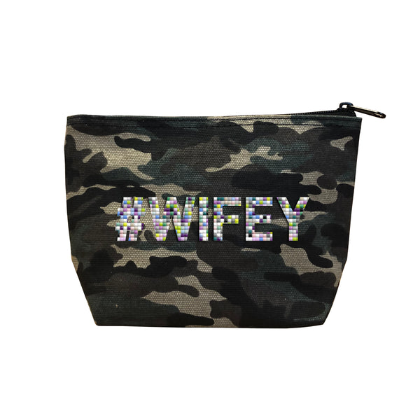 #WIFEY - Camo  Beaded Cosmetic