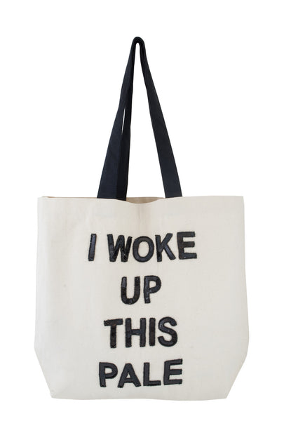 I Woke Up This Pale Sequin Tote
