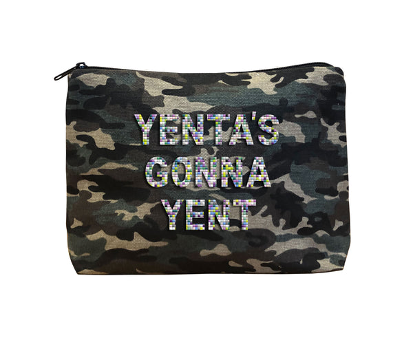 YENTA'S GONNA YENT - Camo Beaded Bikini Clutch