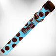 Polka Dot Dog Collars, on Blue - 6 Styles