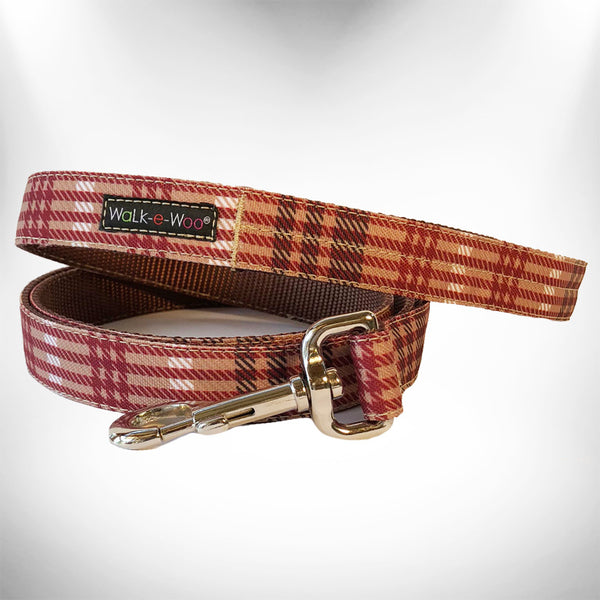 Classic Brown Plaid Dog Leash