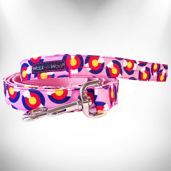 Colorado Pink Dog Leash