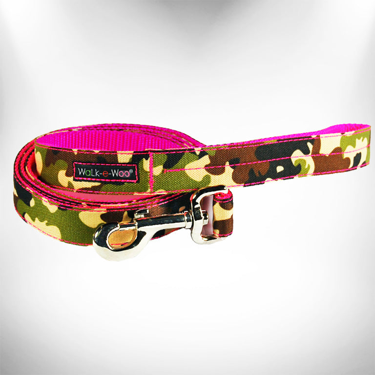 Camo on Hot Pink Dog Leash