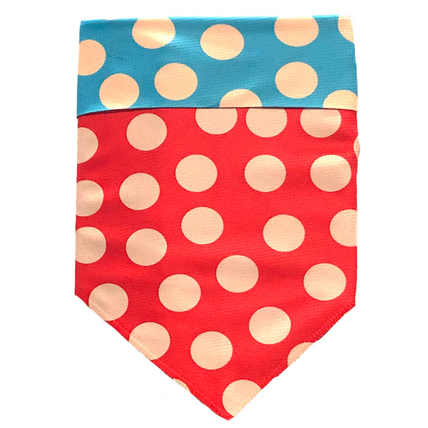 Protective Sport Bandana - DOT Tan/Red/Turquoise