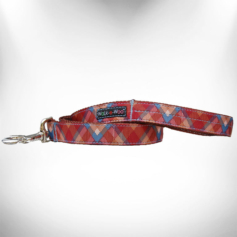 Earth Tone Plaid Dog Leash
