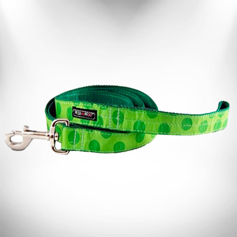 Green Polka Dot Dog Leash