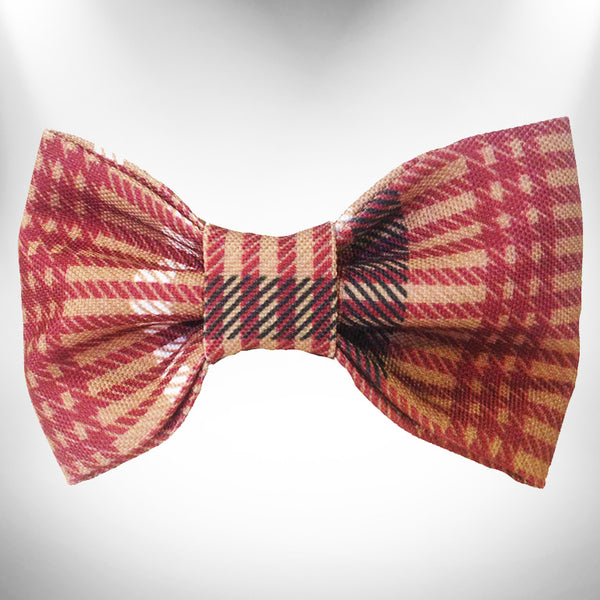 Classic Brown Plaid Doggie Bow Tie