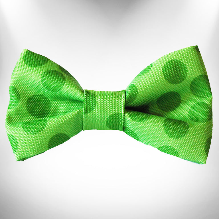 Green Polka Dot Doggie Bow Tie