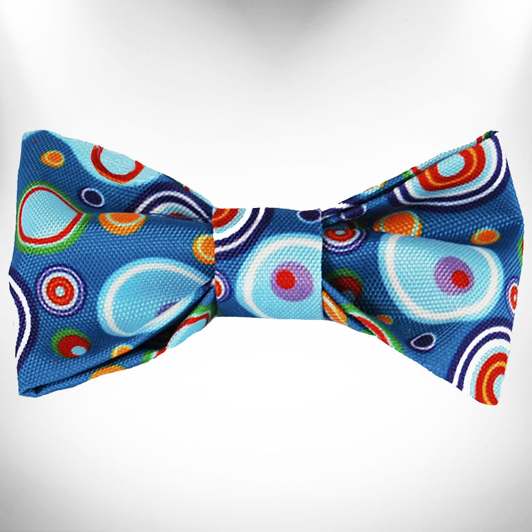 Blue Martini Bow Tie