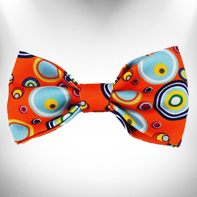 Orange Martini Doggie Bow Tie