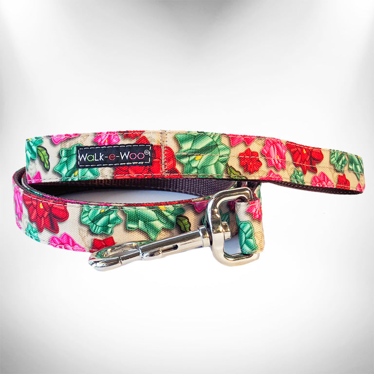 Mayan Flowers Dog Leash